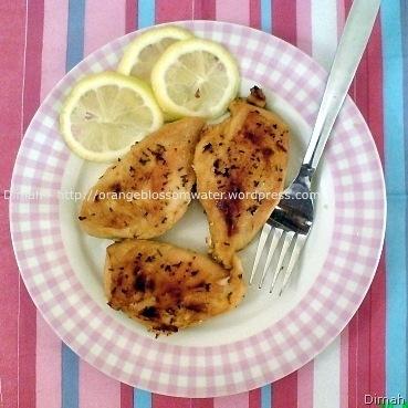 Dimah - http://orangeblossomwater.net - Citrus Chicken