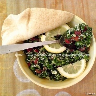 Dimah - http://www.orangeblossomwater.net - Tabbouleh 8