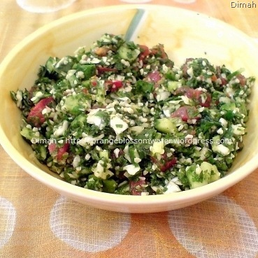 Dimah - http://www.orangeblossomwater.net - Tabbouleh 9
