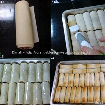 Dimah - http://www.orangeblossomwater.net- Musakhan Spring Rolls 4