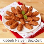 Dimah - http://www.orangeblossomwater.net -Kibbeh Naiyeh Bi-Zeit Az-Zeitoun