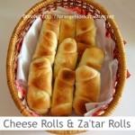 Dimah - http://www.orangeblossomwater.net - Cheese Rolls and Za'tar Rolls