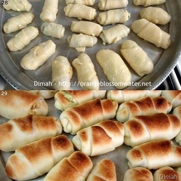 Dimah - http://www.orangeblossomwater.net - Cheese Rolls and Zatar Rolls 8