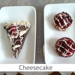 Dimah - http://www.orangeblossomwater.net - Cheesecake With Oreo Crust and Mini Cheesecake