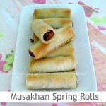 Dimah - http://www.orangeblossomwater.net - Musakhan Spring Rolls