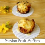 Dimah - http://www.orangeblossomwater.net - Passion Fruit and White Chocolate Muffins