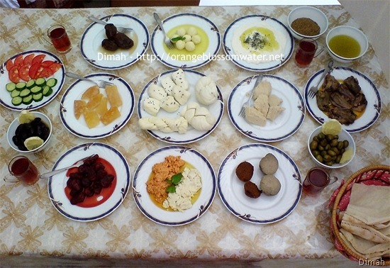 Dimah - http://www.orangeblossomwater.net - Typical Syrian Breakfast 1