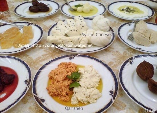 Dimah - http://www.orangeblossomwater.net - Typical Syrian Breakfast 7