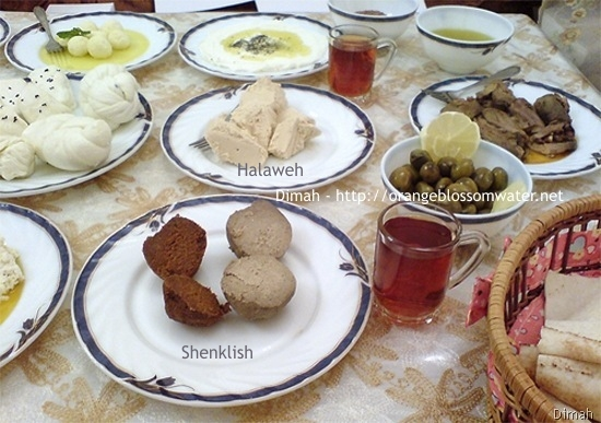 Dimah - http://www.orangeblossomwater.net - Typical Syrian Breakfast 90