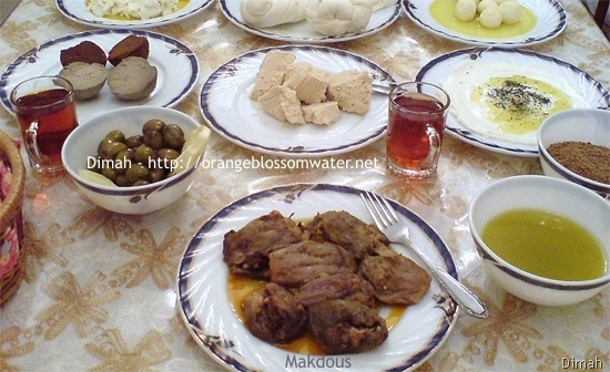Dimah - http://www.orangeblossomwater.net - Typical Syrian Breakfast 92