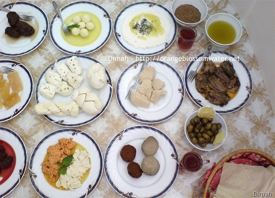 Dimah - http://www.orangeblossomwater.net - Typical Syrian Breakfast 94
