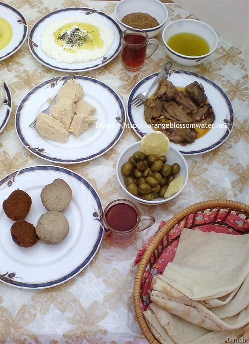 http://www.orangeblossomwater.net - Typical Syrian Breakfast 99
