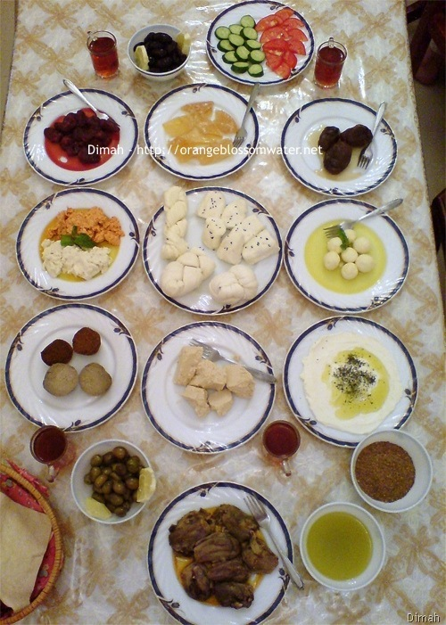 Dimah - http://www.orangeblossomwater.net - Typical Syrian Breakfast 99a