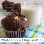 Dimah - http://www.orangeblossomwater.net - White Chocolate Chip Muffins