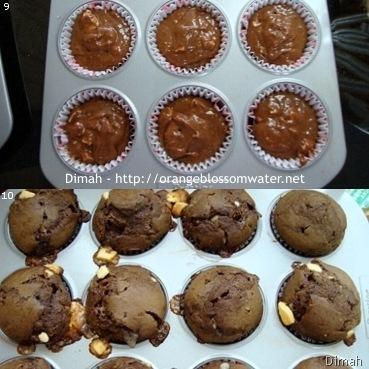 Dimah - http://www.orangeblossomwater.net - White Chocolate Chip Muffins 3