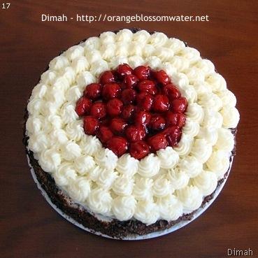 Dimah - http://www.orangeblossomwater.net - Black Forest Cake 5