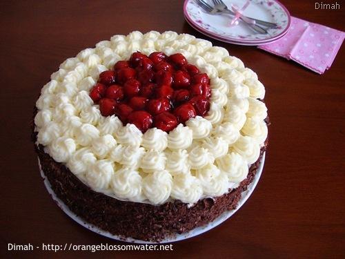 Dimah - http://www.orangeblossomwater.net - Black Forest Cake 6
