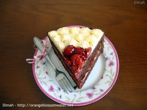 Dimah - http://www.orangeblossomwater.net - Black Forest Cake 9