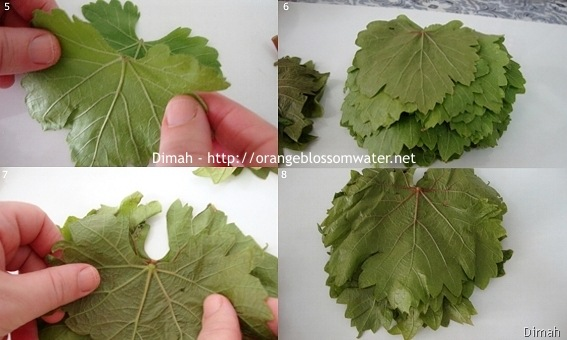 Dimah - http://orangeblossomwater.net - Grape Leaves 2