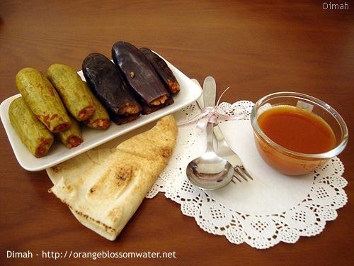 Dimah - http://www.orangeblossomwater.net - Mehshi Al-Bathenjan and Mehshi Al-Kousa 99m