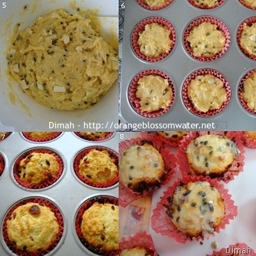 Dimah - http://www.orangeblossomwater.net - Passion Fruit and White Chocolate Muffins 2