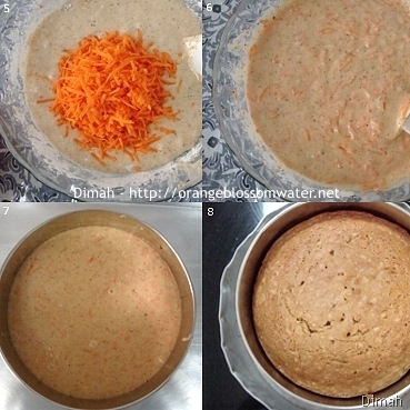Dimah - http://www.orangeblossomwater.net - Old Fashioned Carrot Cake 2