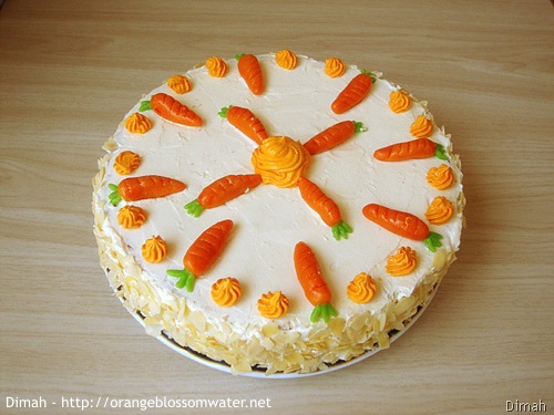 Dimah - http://www.orangeblossomwater.net - Old Fashioned Carrot Cake 91