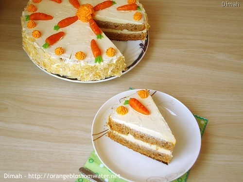 Dimah - http://www.orangeblossomwater.net - Old Fashioned Carrot Cake 93
