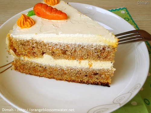 Dimah - http://www.orangeblossomwater.net - Old Fashioned Carrot Cake 97