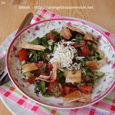 Dimah - http://www.orangeblossomwater.net - Fattoush Khudar I 8