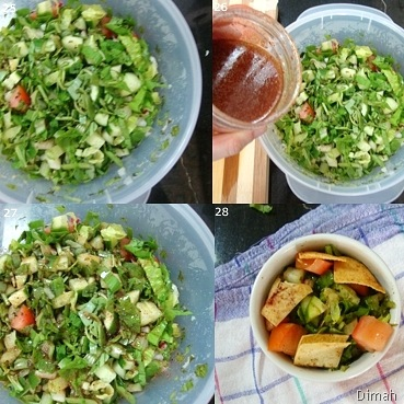 Dimah - http://www.orangeblossomwater.net - Fattoush Khudar II 7