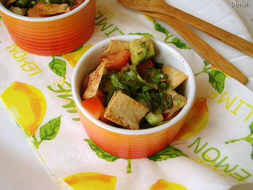 Dimah - http://www.orangeblossomwater.net - Fattoush Khudar II 92