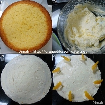 Dimah - http://www.orangeblossomwater.net - Orange Cream Layer Cake 5