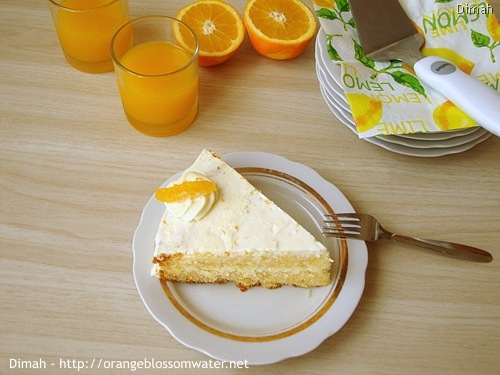 Dimah - http://www.orangeblossomwater.net - Orange Cream Layer Cake 7