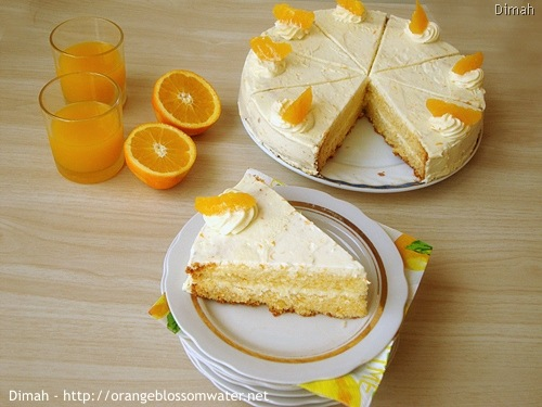 Dimah - http://www.orangeblossomwater.net - Orange Cream Layer Cake 8