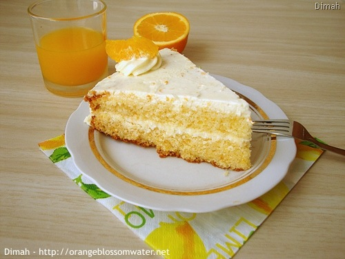Dimah - http://www.orangeblossomwater.net - Orange Cream Layer Cake 9