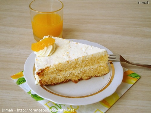 Dimah - http://www.orangeblossomwater.net - Orange Cream Layer Cake 90