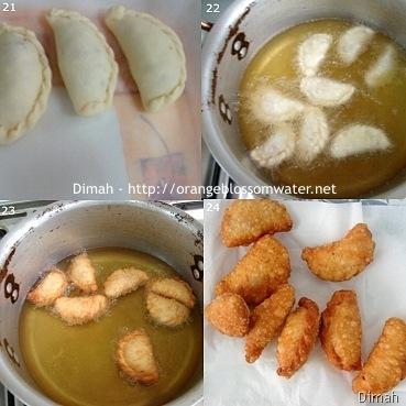 Dimah - http://www.orangeblossomwater.net - Sambousek Lahmeh Maqli 6