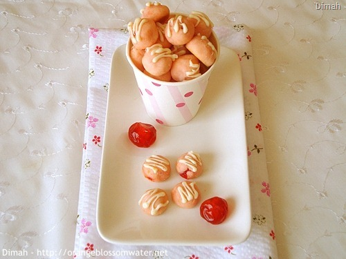 Dimah - http://www.orangeblossomwater.net - Cherry Tea Cakes 3