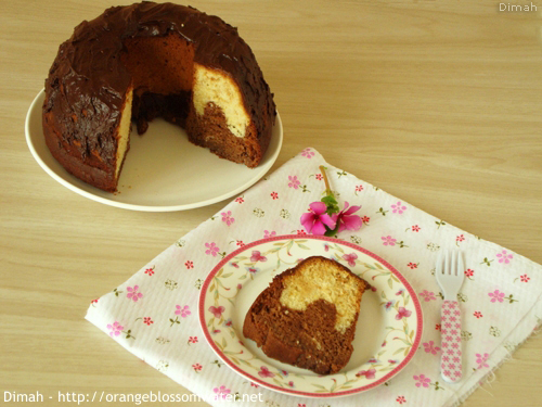 Dimah - http://www.orangeblossomwater.net - Vanilla Fudge Marble Cake 5