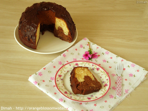 Dimah - http://www.orangeblossomwater.net - Vanilla Fudge Marble Cake 6