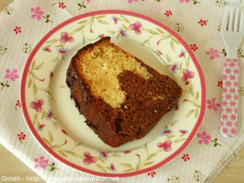 Dimah - http://www.orangeblossomwater.net - Vanilla Fudge Marble Cake 9