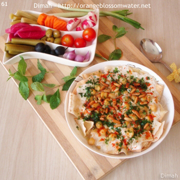 Dimah - http://www.orangeblossomwater.net - Fattet Hummus Bel-Laban 97