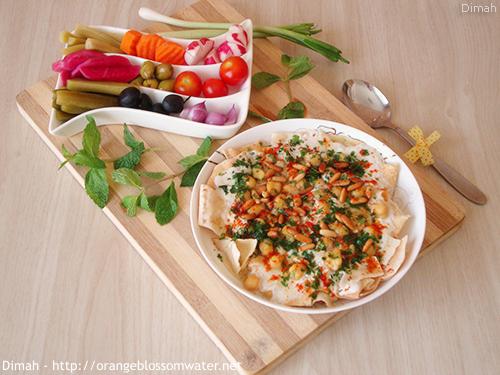 Dimah - http://www.orangeblossomwater.net - Fattet Hummus Bel-Laban 99