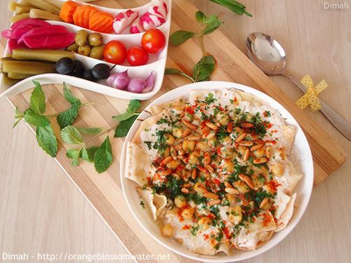 Dimah - http://www.orangeblossomwater.net - Fattet Hummus Bel-Laban 99b