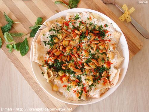 Dimah - http://www.orangeblossomwater.net - Fattet Hummus Bel-Laban 99d