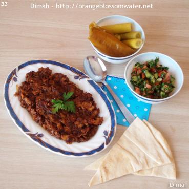 Dimah - http://www.orangeblossomwater.net - Bathenjan Maqli Bel-Basal 9
