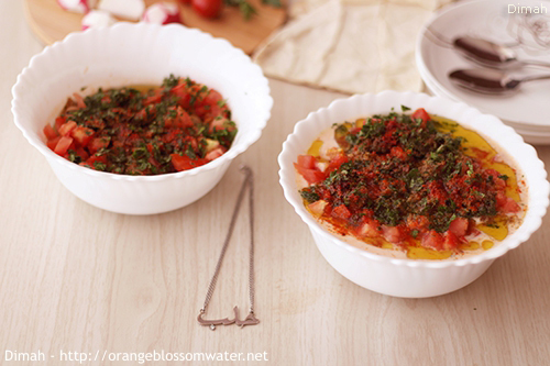 Dimah - http://www.orangeblossomwater.net - Foul Mdammas Bel-Khaltah Al-Halabiyeh 99k 500.