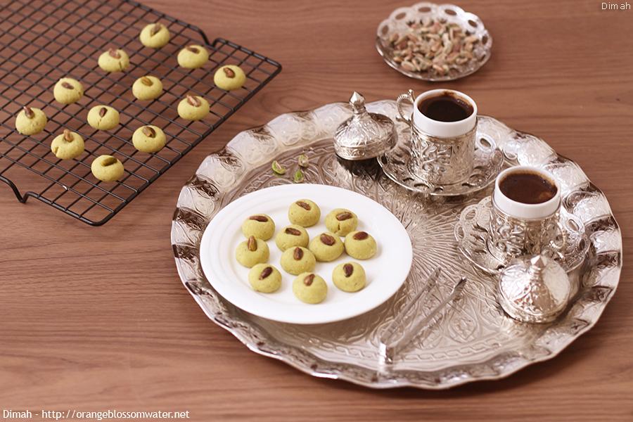 Ghraibeh Bel Fustuq Al Halabi Syrian Pistachio Cookies